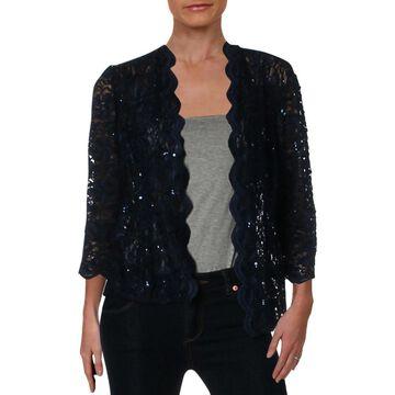 Alex Evenings Womens Petites Jacket Lace Sheer