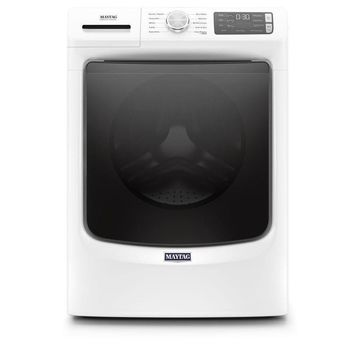Maytag 4.5-cu ft High Efficiency Stackable Front-Load Washer (White) ENERGY STAR