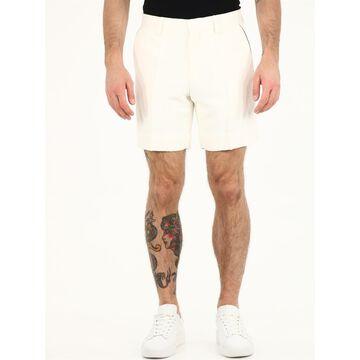 Casablanca White Bermuda Shorts