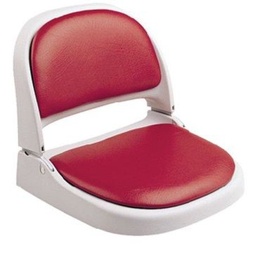 Attwood Proform Seat, Gray Frame, Red Vinyl