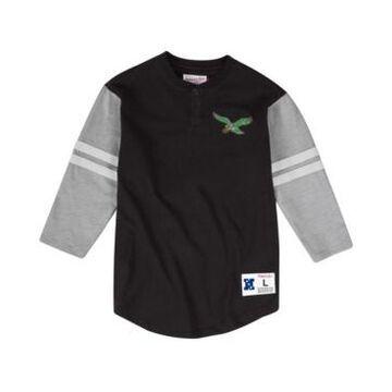 Mitchell & Ness Men's Philadelphia Eagles Team Logo Henley Top