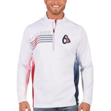 Men's Antigua White Baltimore Orioles Liberty Quarter-Zip Pullover Jacket