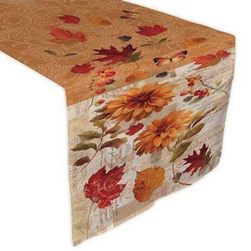 Laural Home Fall in Love 72-Inch Table Runner in Orange