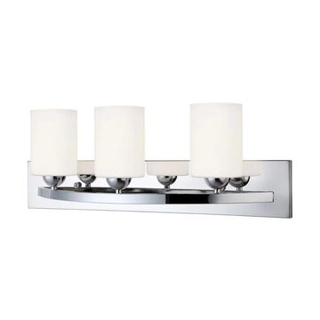 Canarm Hampton 3-Light Chrome Traditional Vanity Light Bar | IVL370A03CH-O