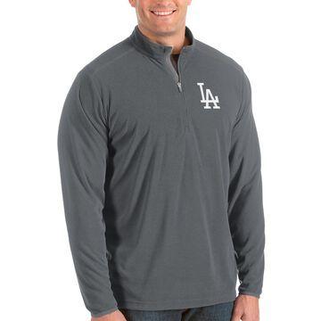 Los Angeles Dodgers Antigua Big & Tall Glacier Quarter-Zip Pullover Jacket - Gray
