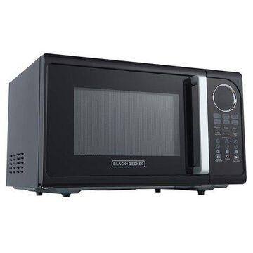 Black & Decker EM925ACP-P2 0.9 Cu. Ft. Microwave With Pull Handle, Black