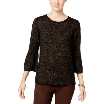 NY Collection Womens Knit Bell Sleeves Sweater