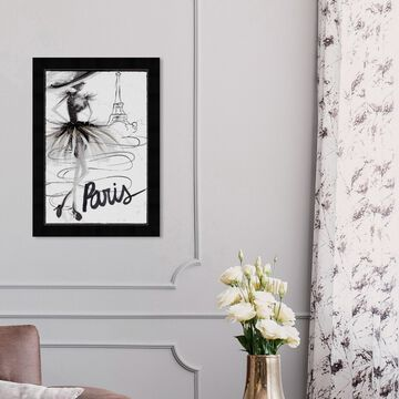 Oliver Gal 'Fashion Doll Paris' Fashion and Glam Wall Art Framed Print Sketches - Black, White