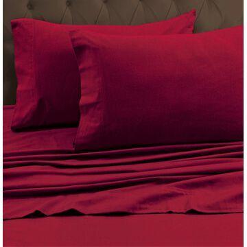Tribeca Living Flannel King Flat Sheet Bedding