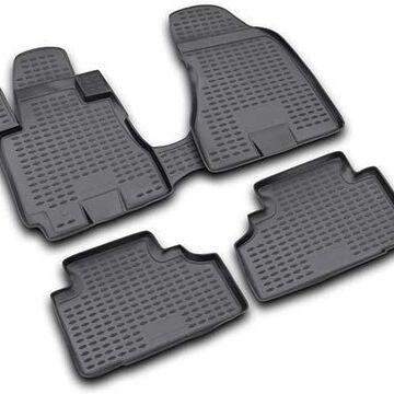2011 Dodge Ram Westin Profile Floor Liners & Mats, Front and 2nd Row Floor Liners in Black