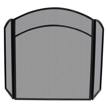 Uniflame 3-Fold Black Wrought Iron Arch Top Screen