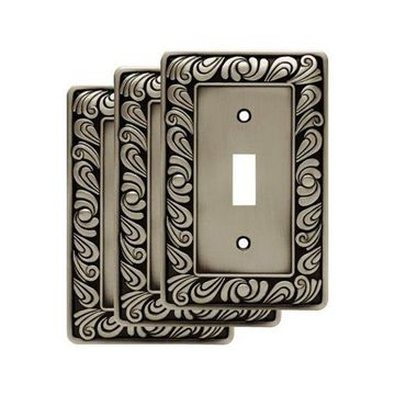Franklin Brass W10108V-R Paisley Single Toggle Switch Wall Plate - Pack of 3