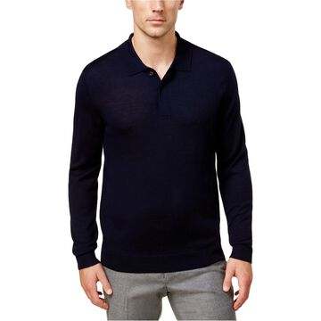 Club Room Mens LS Knit Polo Sweater