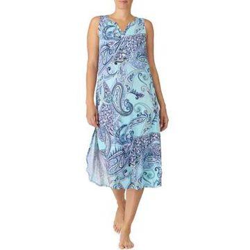 Ellen Tracy Women's Sleeveless Midi Shirt - -