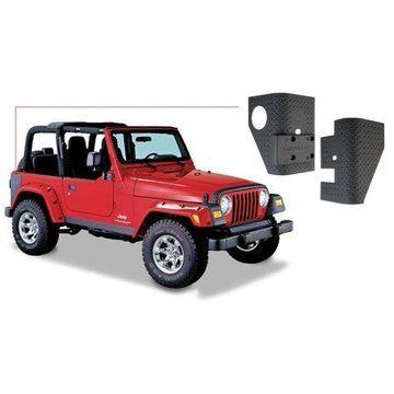 Bushwacker 97-06 Jeep Wrangler Trail Armor Rear Corners - Black