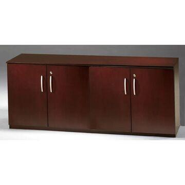 Mayline Napoli Low Wall Cabinet with Wood Doors (Mahogany Finish - Mahogany)