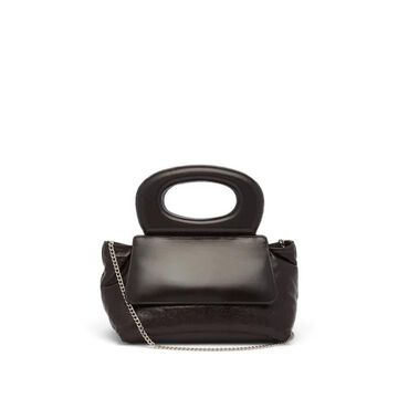 Lemaire - Cabas Mini Leather Cross-body Bag - Womens - Dark Brown