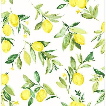 Brewster Limon Chartreuse Fruit Wallpaper