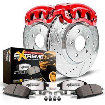 Power Stop Rear Z36 Truck & Tow Brake Kit with Red Powder Coated Calipers KC2050-36