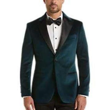 Egara Green Velvet Slim Fit Dinner Jacket