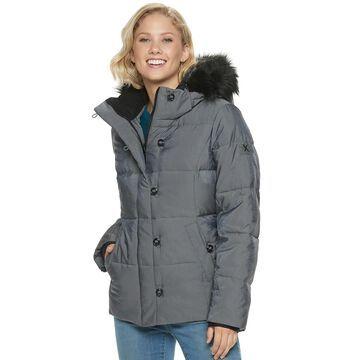 Women's ZeroXposur Trinity Heavy Puffer Faux Fur Hooded Jacket