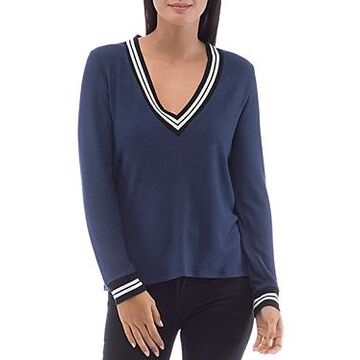 B Collection by Bobeau Val Cozy Varsity Top