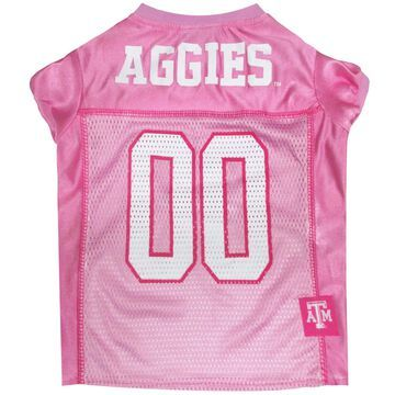 Pets First Texas A&M Aggies Pink Jersey, Medium
