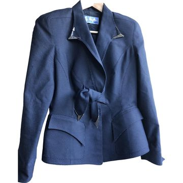 Thierry Mugler \N Navy Cotton Jackets