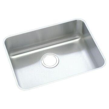 Elkay Gourmet Undermount 23.5-in x 18.25-in Lustrous Highlighted Satin Single Bowl Kitchen Sink
