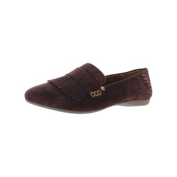 Born Womens Mcgee Loafers Suede Fringe