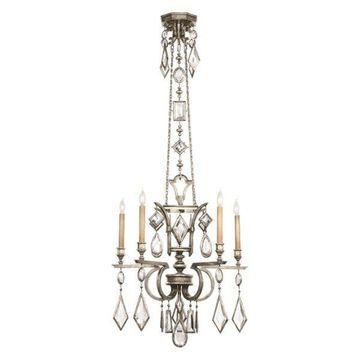 Fine Art Lamps Encased Clear Crystal Gems Chandelier