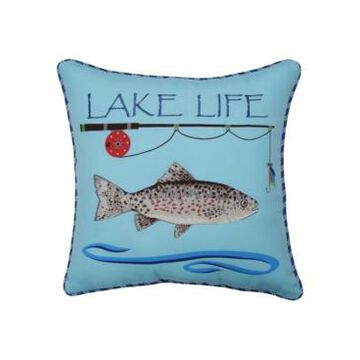 Pillow Perfect Lake Life Fishing Throw Pillow