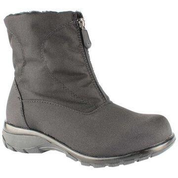 Toe Warmers Women's Alyssa Waterproof Zip Boot Black Nylon