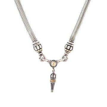 Two-Tone Pendant Necklace silver