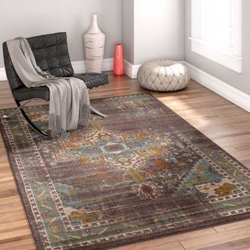 Well Woven Laurent Chelsea Blue Modern Vintage Area Rug