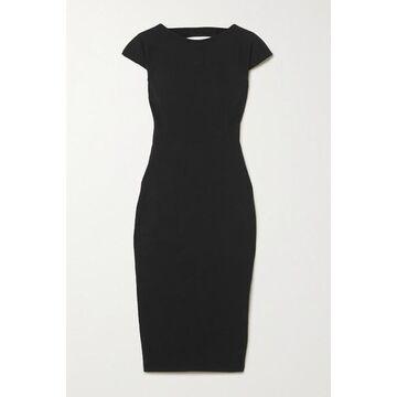 Rick Owens - Easy Sarah Open-back Stretch Cotton-blend Crepe Dress - Black