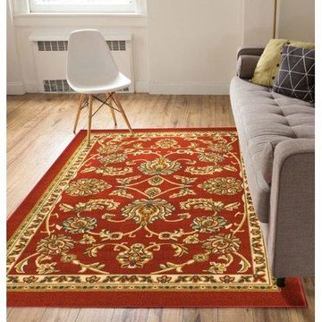 Well Woven Kings Court Tabriz Traditional Red Area Rug