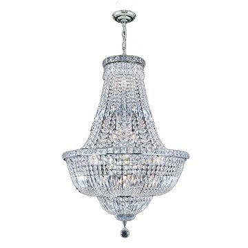 Worldwide Lighting Empire 15-Light Polished Chrome Glam Crystal Empire Chandelier