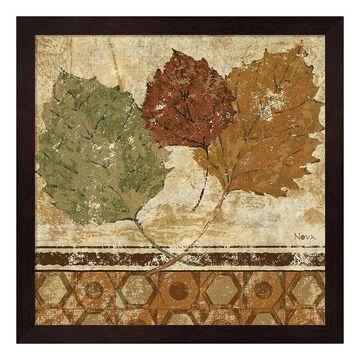 """Metaverse Art Golden Autumn II Framed Wall Art, Brown, 12""""X12"""""""