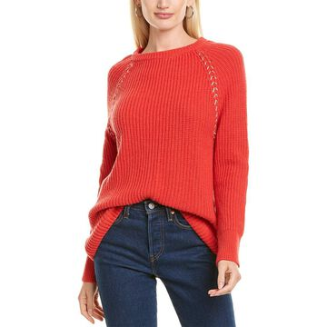 Les Copains Metallic Stitch Wool & Cashmere-Blend Sweater