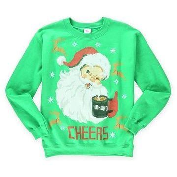 Gildan Mens Cheers Santa Sweatshirt