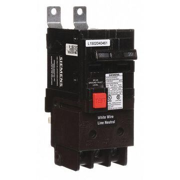 20 A Bolt On Ground Fault Equipment Protection 120/240V AC Not Rated