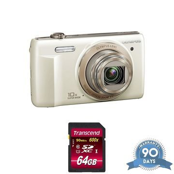 Olympus VR-340 Digital Camera (White) - with Memory Card -