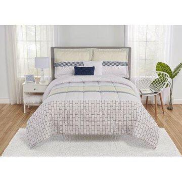 Mainstays Nissi Boho Comforter Set with 2 Decorative Pillows
