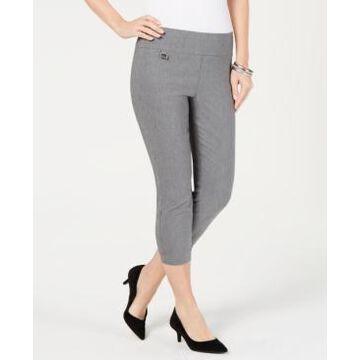 Alfani Tummy-Control Pull-On Capri Pants, In Regular and Petite, Created for Macy's