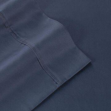 Martex 400 Thread Count Solid Sateen Sheet Set, Blue, Twin