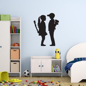 Style and Apply 'Boy Meet Girl' Banksy Vinyl Wall Decal