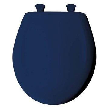 Bemis 200SLOWT 364 Plastic Round Slow-Close Toilet Seat, Colonial Blue