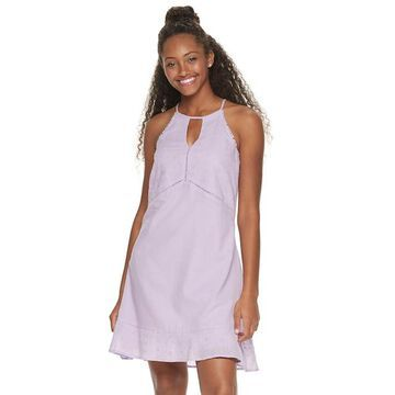 Juniors' Candie's Eyelet Halter Swing Dress