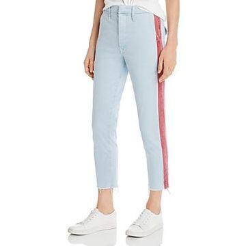Mother The Shaker Side-Stripe Cropped Pants